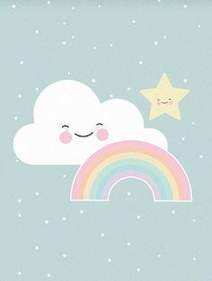 Eef Lillemor 'A3 Poster Rainbow'
