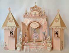 Fairytale Princess Chipboard Castle for the Gilded Lily Mini Album. Blog tutorial by Anne Rostad