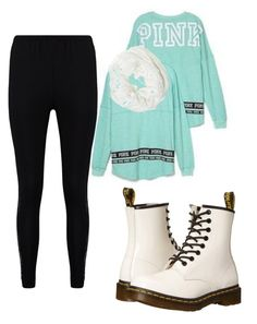 """Untitled #122"" by suri-rodriugez on Polyvore featuring Victoria's Secret, Betsey Johnson, Boohoo and Dr. Martens"