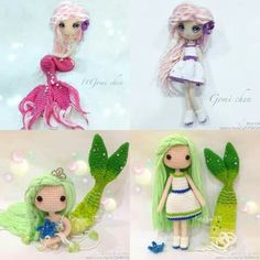 Amigurumi mermaid collection. (Inspiration).