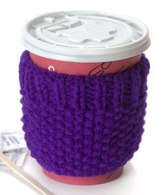 Cup Cozy Free Pattern | Red Heart