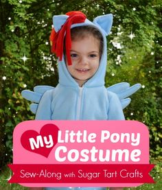 My Little Pony Costume Sew-Along with Sugar Tart Crafts - Great for kids and adults for Halloween, Cosplay, or anytime!