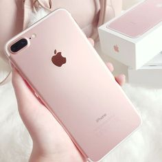 Rose gold iphone 7 plus