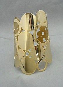 brazalete latón chapado en oro