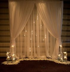 Drape, crystals & candles