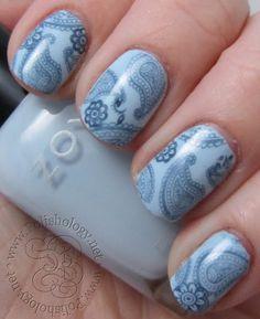 Nail art created by #polishology using #BM315 #nailstamp #ShopBM