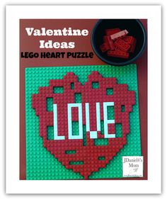 LEGO can be used to build a number of Valentine ideas. We recently worked on fixing a broken LEGO heart just like you would a puzzle missing a piece. Science Valentines, Lego Valentines, Valentine Activities, Valentine Ideas, Valentine Day Crafts, Lego Activities, Preschool Learning Activities, Fraction Games, Mending A Broken Heart