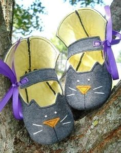 SALE - PDF ePATTERN - Precious Kitty Booties Sewing Pattern