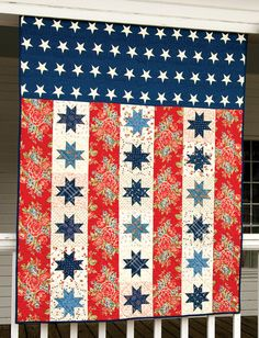 Stars and Bars Quilt. Love this quilt and maybe one day will make it!
