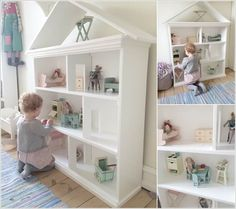 Utilize an Old Bookcase and Turn It into a Dollhouse