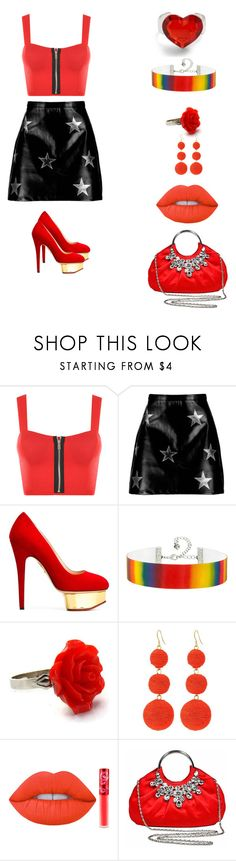 """fashion"" by garnetthesavage ❤ liked on Polyvore featuring WearAll, Boohoo, Charlotte Olympia, Kenneth Jay Lane and Lime Crime"