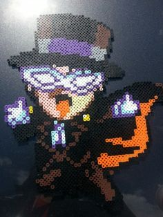 Tuxedo Mask from Sailor Moon perler bead design