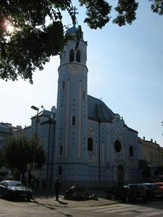 Blue church in Bratislava Slovakia Heart of Europe