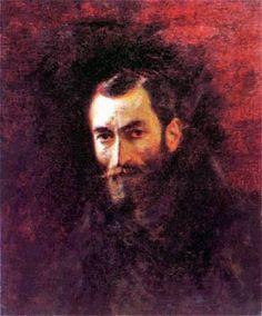 Portret Feliksa Jasieńskiego<br> 1893. Olej na płótnie. <br> http://www.pinakoteka.zascianek.pl/Podkowinski/Podkowinski_3.html