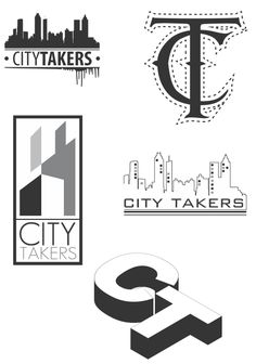 City Takers (word mark  concept) by Edward Bayonet, via Behance