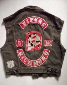 Vipers Motorcycle Gang Jacket Vest
