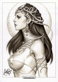 """comicbookwomen: """" Artgerm to kick off Dejah Thoris today. The Martian godmother of all comic bad girls. Created by Edgar Rice Burroughs in 1917 for the novel Princess of Mars (which was first..."""