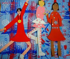 My third grade students are finishing their Olympic self portrait figures this week. We started creating our paper doll l. Art Lessons For Kids, Art For Kids, Kid Art, Third Grade Art, Grade 3, Brazil Art, Art School, School Ideas, Winter Project