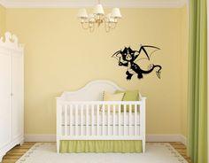 Dragon Baby Silhouette Vinyl Wall Decal Sticker