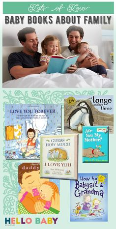 Fifteen baby books featuring family themes, which will help your little one feel incredibly loved. Baby Bookshelf, Family Theme, Alphabet Book, Baby List, Babysitting, Good Books, Literacy, Toddlers, Dads