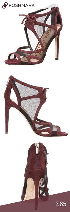 2a2a069340f97 Sam Edelman suede mesh Pompeii heels Good condition burgundy suede cage  heels from Sam Edelman.