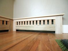 Looking for a modern radiator cover to conceal heating essentials? Take a look of modern radiator covers to make a style inside your home. Radiator covers can be made to match… Continue Reading → Baseboard Radiator, Baseboard Heater Covers, Wood Baseboard, Baseboard Styles, Baseboard Heating, Baseboard Ideas, Best Radiators, How To Install Baseboards, Radiator Cover