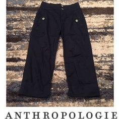 Anthropologie Cartonnier Navy Cuffed Cropped Pants Anthropologie Cartonnier Navy Cuffed Cropped Pants. Button front pockets. Inseam 24 inches and rise is 9 inches. Excellent condition. Feel free to make an offer. Anthropologie Pants Ankle & Cropped