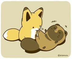Kawaii Art, Kawaii Anime, Anime Animals, Animals And Pets, Short Comics, Cute Doodles, Cute Little Animals, Cute Comics, Cute Creatures
