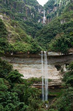 Amazon, Peru #Yumbilla Falls, #Peru. This waterfall is whooping 895.5 m tall! #Amazonas