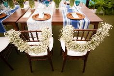 Cadeira personalizada para os noivos