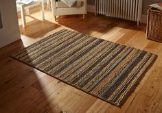 Handmade using natural jute fibres, this Crestwood Charcoal is a beautiful addition to your traditional room settings. #naturalrugs #juterugs #durablerugs #largerugs #runners