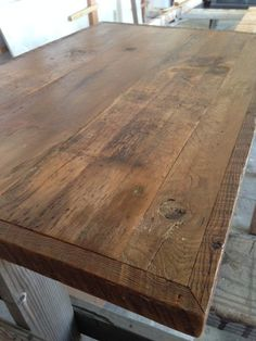 Custom Made Desk Top Reclaimed Wood Natural Finish Select Your Size - Salvaged wood table top