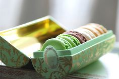 luxurious but simple gift of macaroons