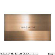 Minimalism Golden Cupper Metallic Vip Pack Of Standard Business Cards