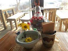 소,오리,새 그리고 꽃