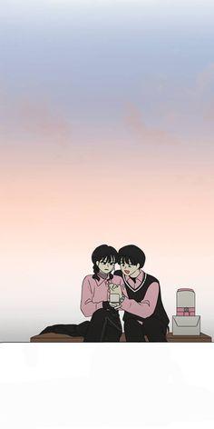 Cute Couple Art, Cute Couples, Aesthetic Template, Manhwa Manga, Cool Wallpaper, Webtoon, Art Sketches, Revolution, Concept Art