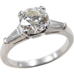 Art Deco Platinum 1.42 ctw Diamond Ring