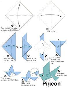 Origami-Papierwürfel falten - New Ideas Origami Design, Diy Origami, Origami Bird Easy, Easy Origami Dragon, Origami Dove, Origami Simple, Easy Origami For Kids, Origami Folding, Useful Origami