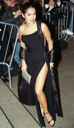 "vintagewoc: ""Salma Hayek at the Met Gala (1997) """