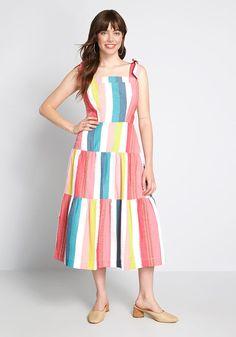 Art Teacher Outfits, Teacher Wardrobe, Teacher Clothes, Rainbow Outfit, Rainbow Dresses, Vacation Dresses, Shoulder Dress, Shoulder Straps, Shoulder Bags