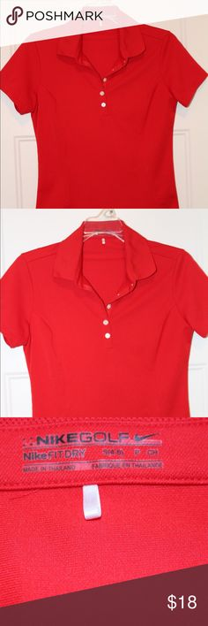 Red Nike Golf Polo, Size Small Red dri-fit Nike golf polo.  Excellent condition Nike Tops Tees - Short Sleeve