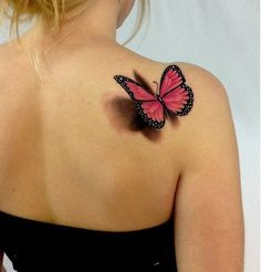 21 Butterfly Shoulder Tattoos For Girls