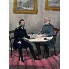 Surrender of General Lee at Appomattox Court House Virginia April 9 1865 Currier and Ives (a 1857-1907American) Library of Congress Washington DC Canvas Art - Currier and Ives (18 x 24)