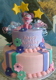 Sports Birthday Cakes, First Birthday Cake Topper, Elmo Birthday, Baby 1st Birthday, 2nd Birthday Parties, Birthday Ideas, Sesame Street Birthday Cakes, Elmo Party, Abby Cadabby