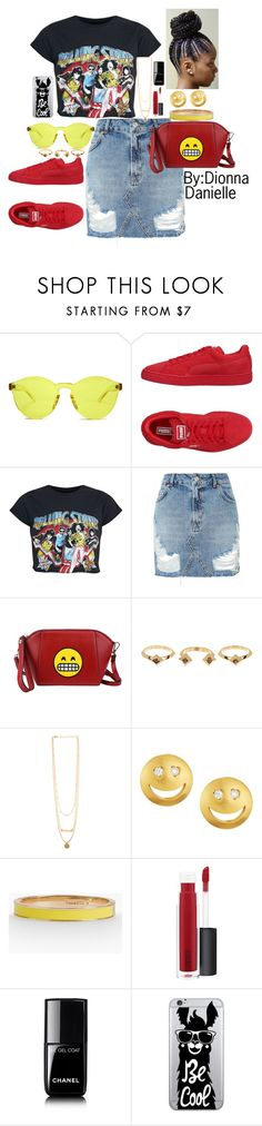 """SummerTymeFine"" by dionnadanielle on Polyvore featuring RumbaTime, Puma, Topshop, Olivia Miller, House of Harlow 1960, Tai, Talbots, MAC Cosmetics, Chanel and OTM Essentials"