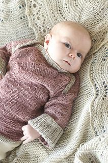 Sweet baby pullover: Clemmie's Sweater by Tumbleberry Knits - - - Number one on the needles for Malabrigo Stockpile event!