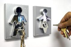 His & Hers Keyholders by Jaime & Mark Antoniades for J-Me - Free Shipping