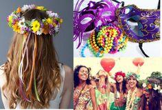 Pequenos acessórios, como colares, flores e claro máscaras, podem incrementar o seu visual para desfilar por aí
