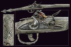 A very rare silver mounted flintlock pistol in Roka style, Greece, 18th century.