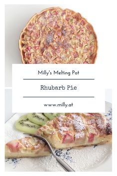 Rhubarb is one of the first spring messengers and you can use it in many recipes! My favorite is still this really quick rhubarb pie! Easy Homemade Recipes, Homemade Desserts, Dessert Recipes, Tart Recipes, Vegan Recipes, Rhubarb Pie, Rhubarb Recipes, Radish Recipes, Onion Recipes
